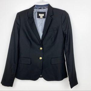 J. Crew Black Blazer Size 2